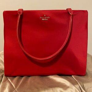 Kate Spade pillbox red nylon bag - New!